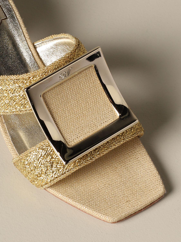 Shoes women Roger Vivier gold 3