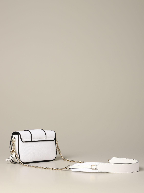 Roger Vivier Tres Vivier Tasche aus Canvas mit Stickerei weiß 2