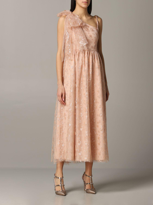 Red Valentino Glitzer Tüll Kleid