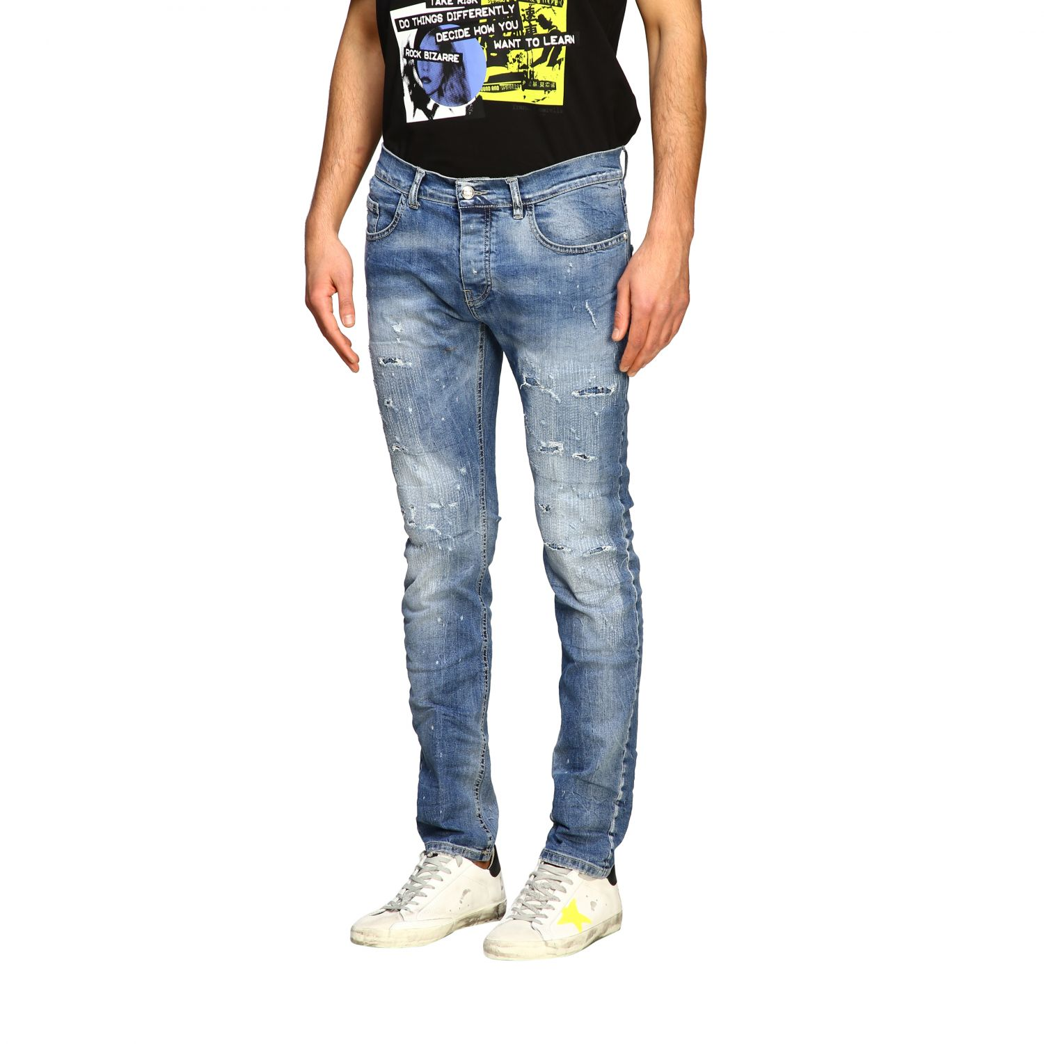 Jeans men Frankie Morello stone washed 4
