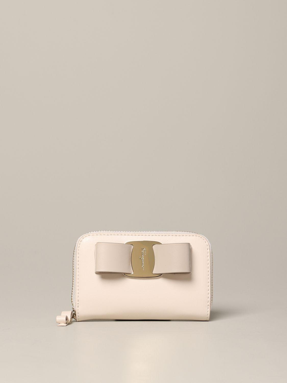 Wallet women Salvatore Ferragamo beige 1