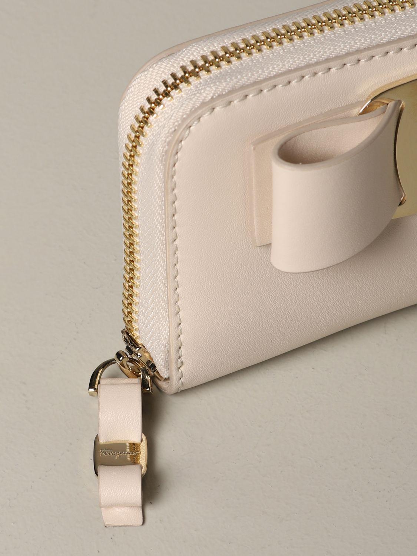 Wallet women Salvatore Ferragamo beige 4