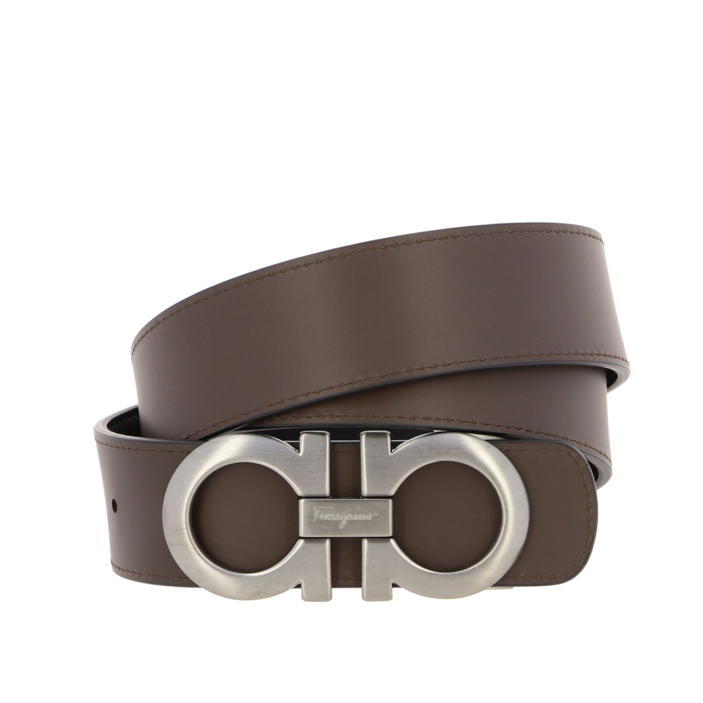 Cintura Gancini Salvatore Ferragamo in pelle reversibile nero 2