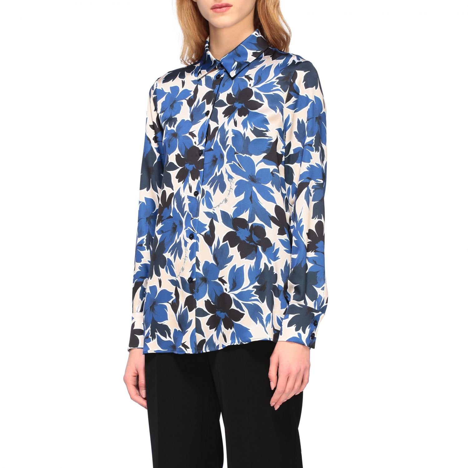 Shirt Boutique Moschino: Shirt women Boutique Moschino blue 4