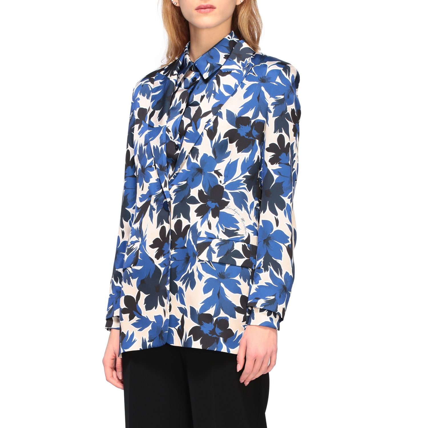 Blazer Boutique Moschino: Blazer women Boutique Moschino blue 4