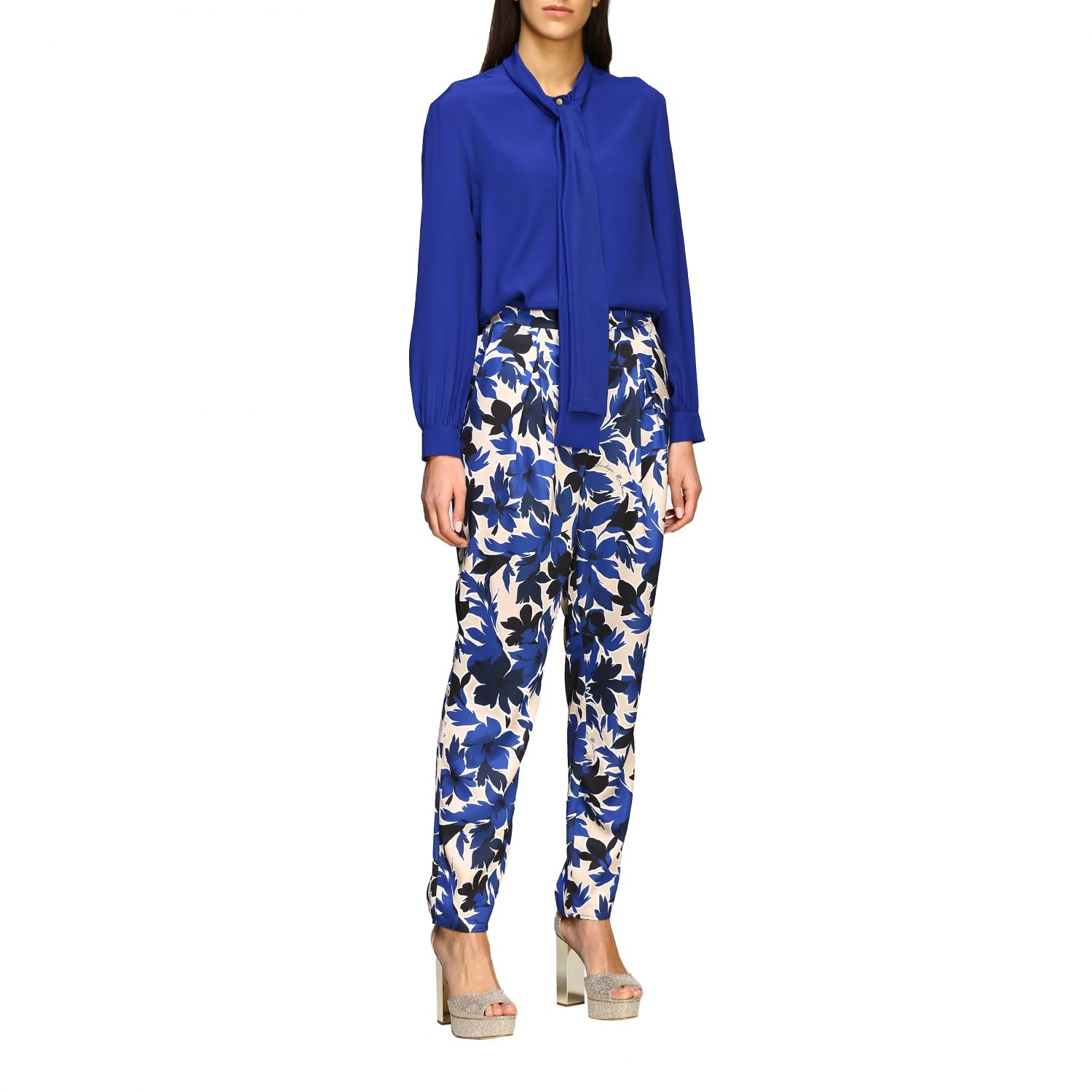 Trousers Boutique Moschino: Trousers women Boutique Moschino blue 2