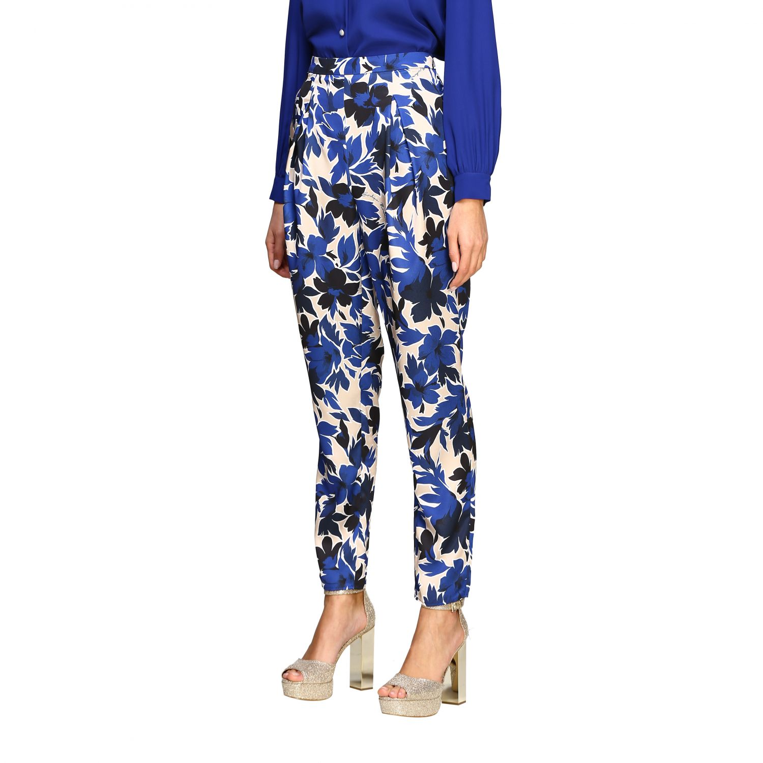 Trousers Boutique Moschino: Trousers women Boutique Moschino blue 4