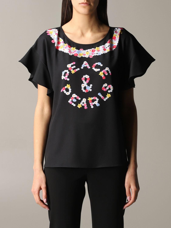 Top Boutique Moschino: Top women Boutique Moschino black 1