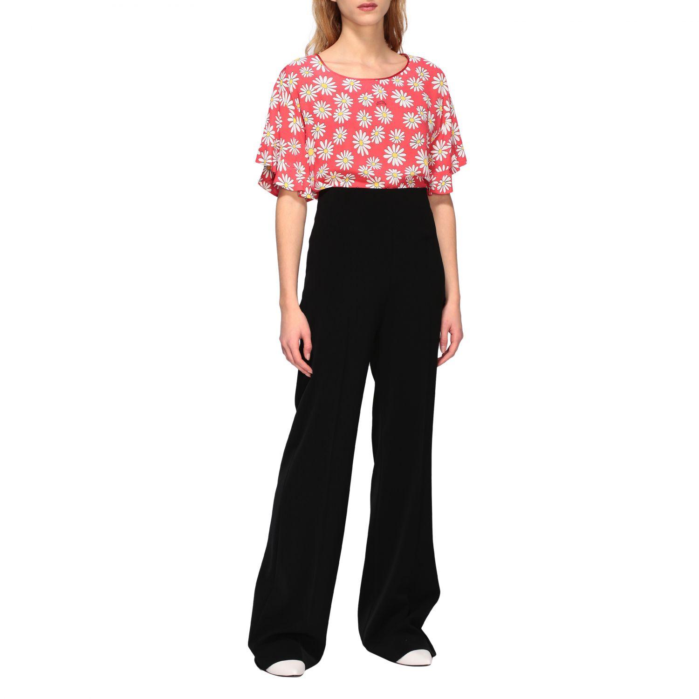 T-Shirt Boutique Moschino: Boutique Moschino T-Shirt mit Gänseblümchen Aufdruck korall 2
