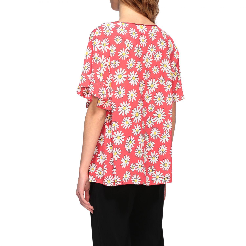 T-Shirt Boutique Moschino: Boutique Moschino T-Shirt mit Gänseblümchen Aufdruck korall 3
