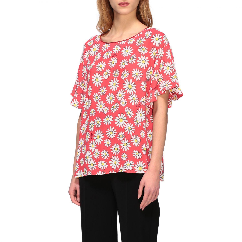T-Shirt Boutique Moschino: Boutique Moschino T-Shirt mit Gänseblümchen Aufdruck korall 4