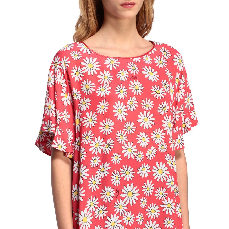 T-Shirt Boutique Moschino: Boutique Moschino T-Shirt mit Gänseblümchen Aufdruck korall 5