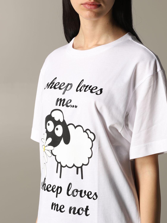 T-shirt Boutique Moschino a maniche corte con stampa bianco 5