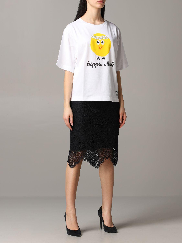 T-shirt Boutique Moschino a maniche corte con stampa bianco 2