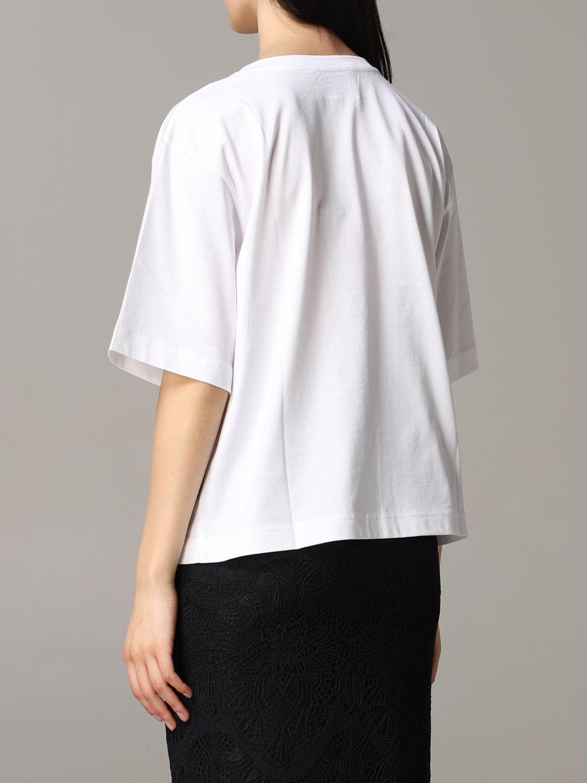 T-shirt Boutique Moschino a maniche corte con stampa bianco 3