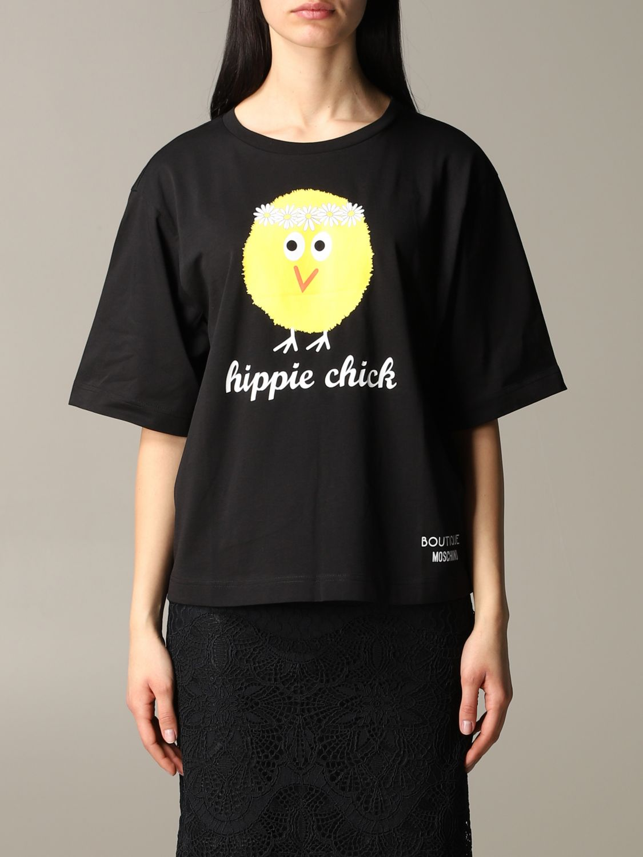 T-shirt Boutique Moschino a maniche corte con stampa nero 1
