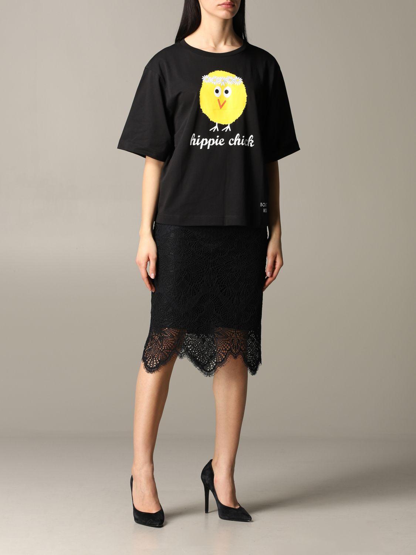 T-shirt Boutique Moschino a maniche corte con stampa nero 2