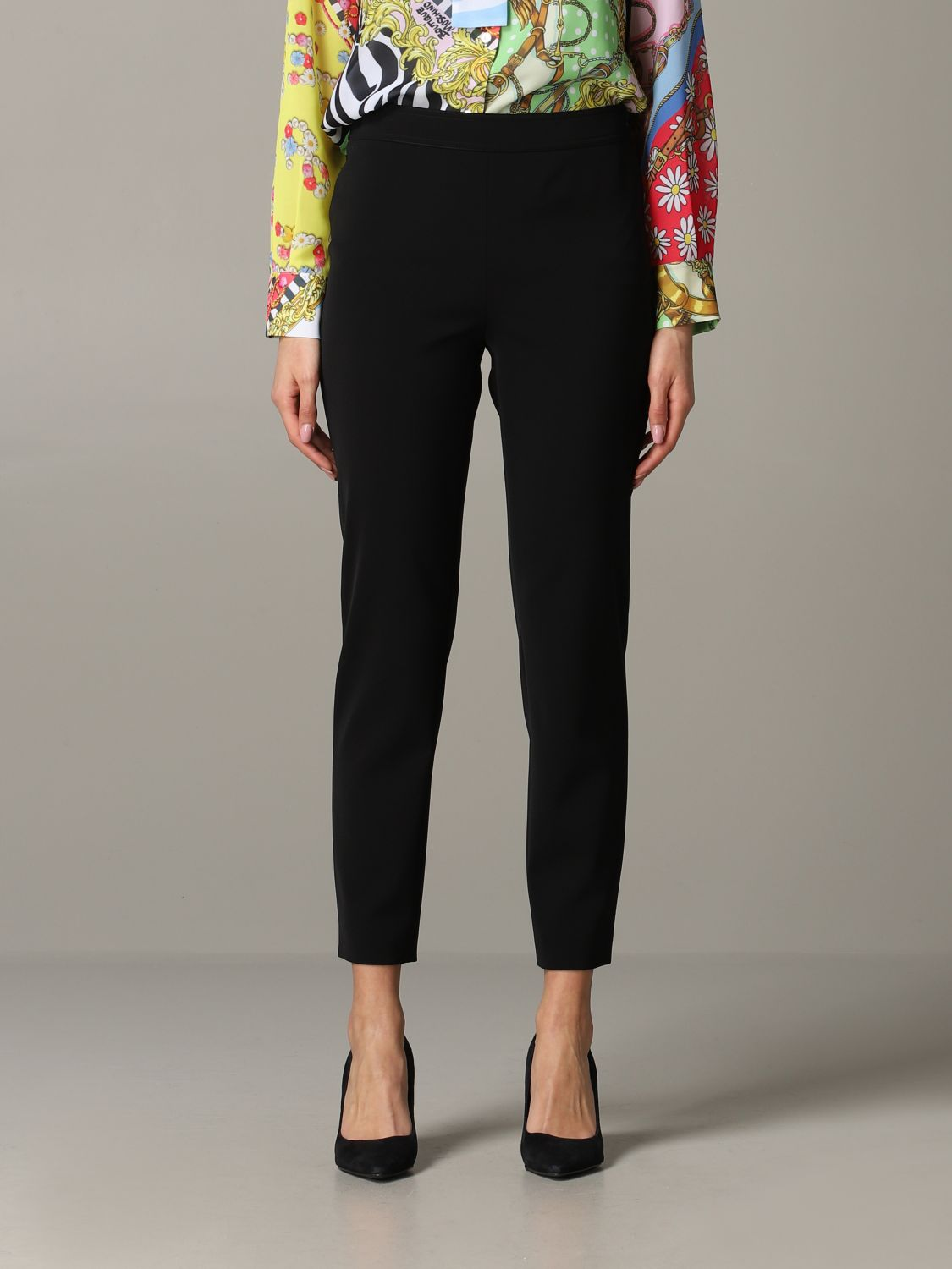 Trousers Boutique Moschino: Trousers women Boutique Moschino black 1