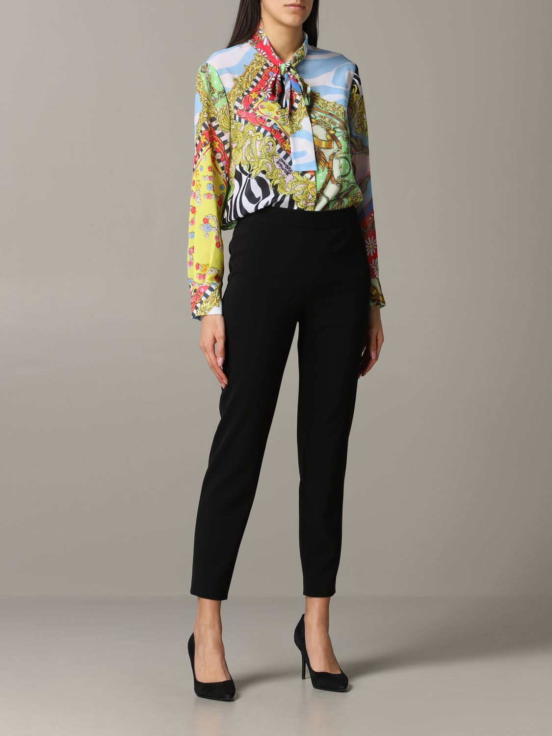 Trousers Boutique Moschino: Trousers women Boutique Moschino black 2