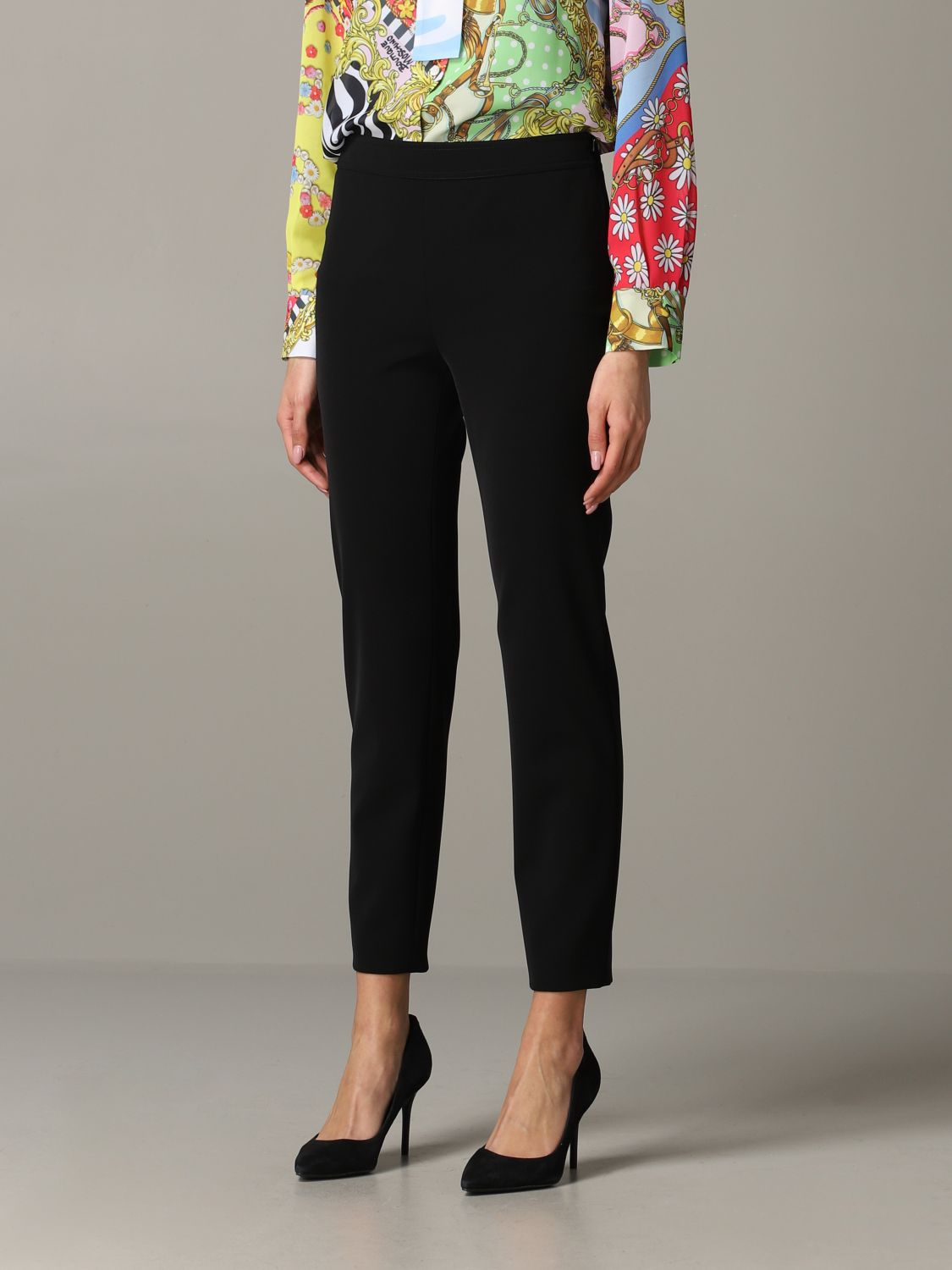 Trousers Boutique Moschino: Trousers women Boutique Moschino black 4