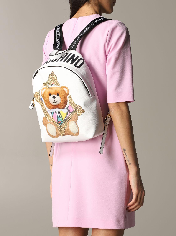 Moschino Couture 泰迪熊背包 白色 2