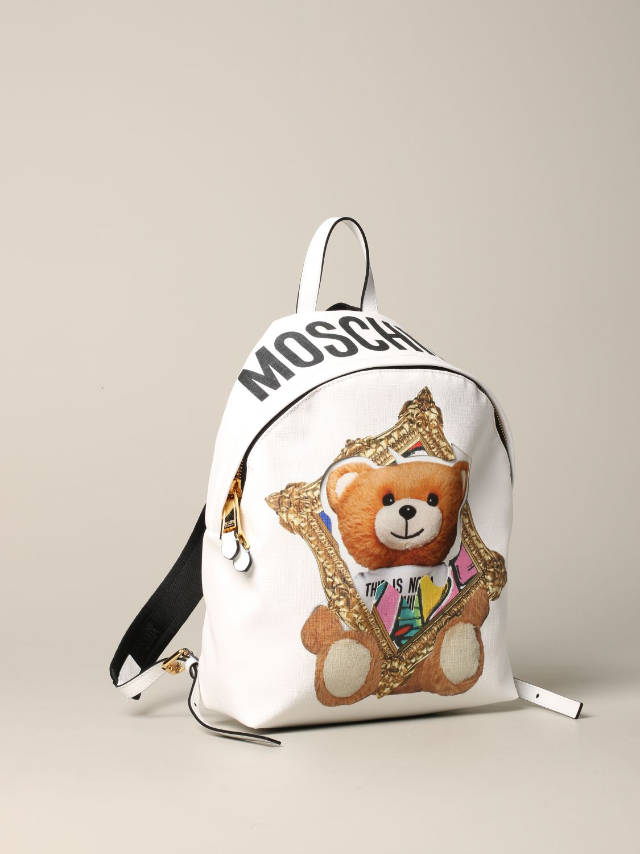 Moschino Couture 泰迪熊背包 白色 3