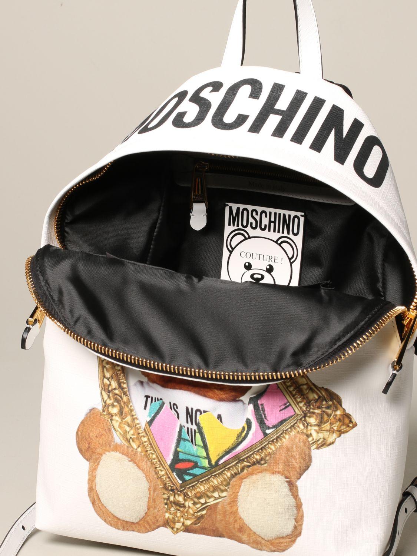 Moschino Couture 泰迪熊背包 白色 5