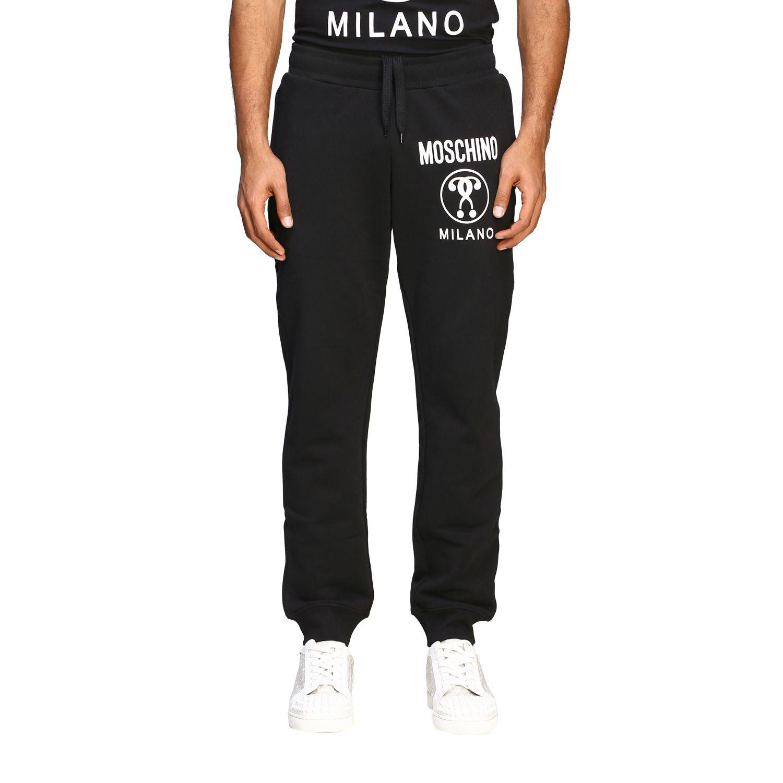 Pantalon de jogging Moschino Couture avec logo noir 1