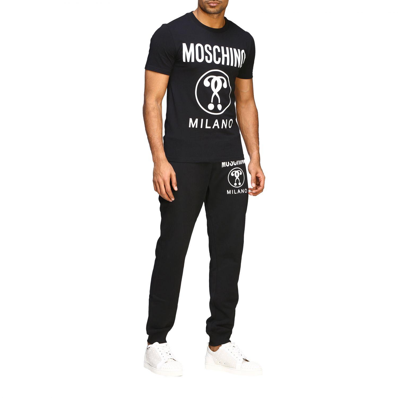 Pantalon de jogging Moschino Couture avec logo noir 2