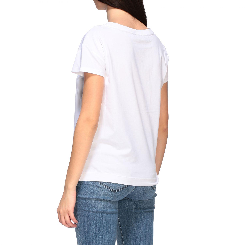 T-shirt Love Moschino a maniche corte con stampa logo bianco 3