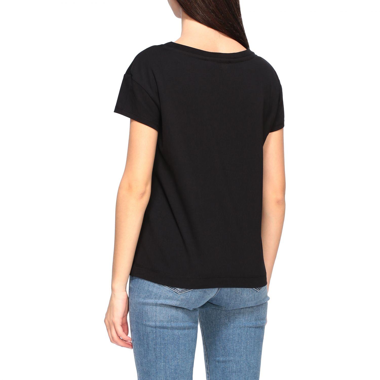 T-shirt Love Moschino a maniche corte con stampa logo nero 3