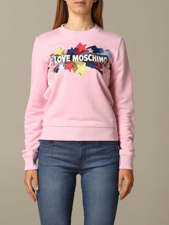Sweatshirt women Love Moschino pink 1