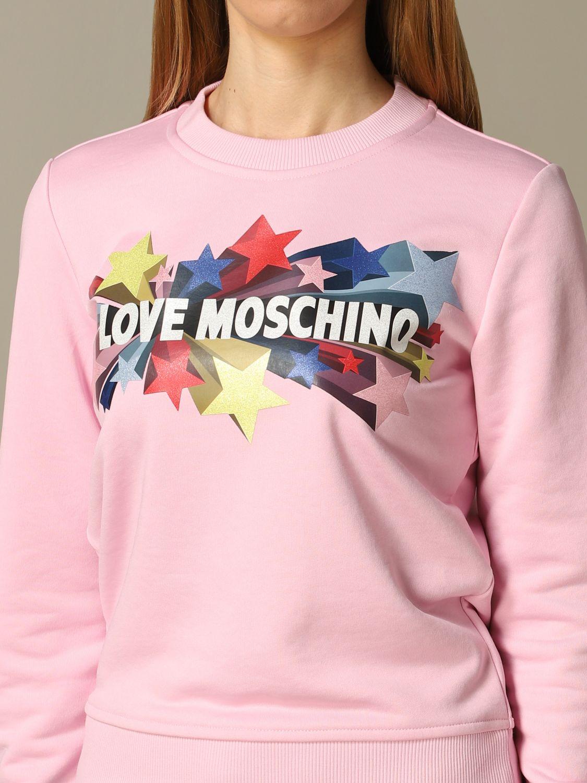Sweatshirt women Love Moschino pink 3