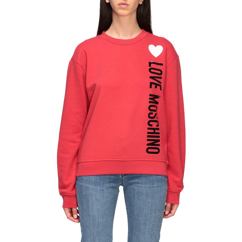 Sweatshirt women Love Moschino red 1