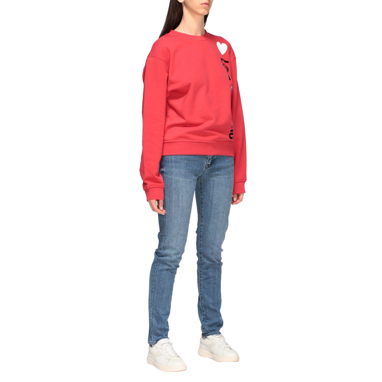 Sweatshirt women Love Moschino red 2