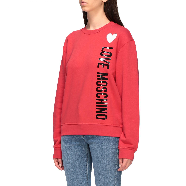 Sweatshirt women Love Moschino red 4