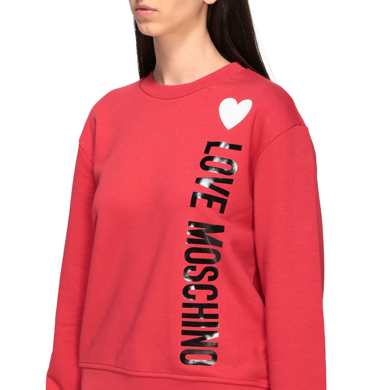 Sweatshirt women Love Moschino red 5