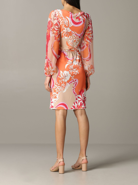 Kleid Emilio Pucci: Emilio Pucci Jerseykleid mit Vahiné-Print korall 2