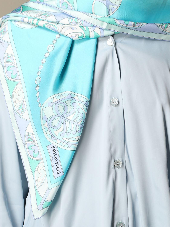 Neckerchief women Emilio Pucci gnawed blue 2