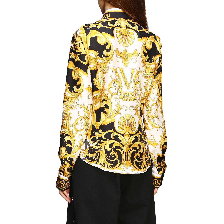 Versace silk shirt with baroque print white 2