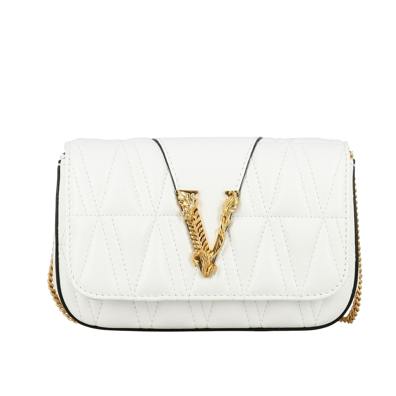 Shoulder bag women Versace white 1