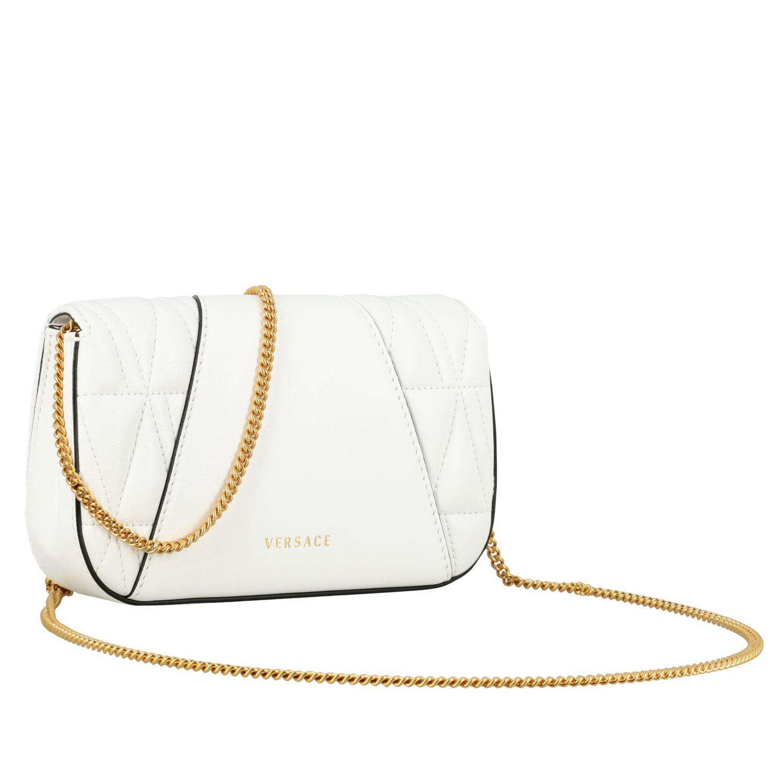 Shoulder bag women Versace white 3
