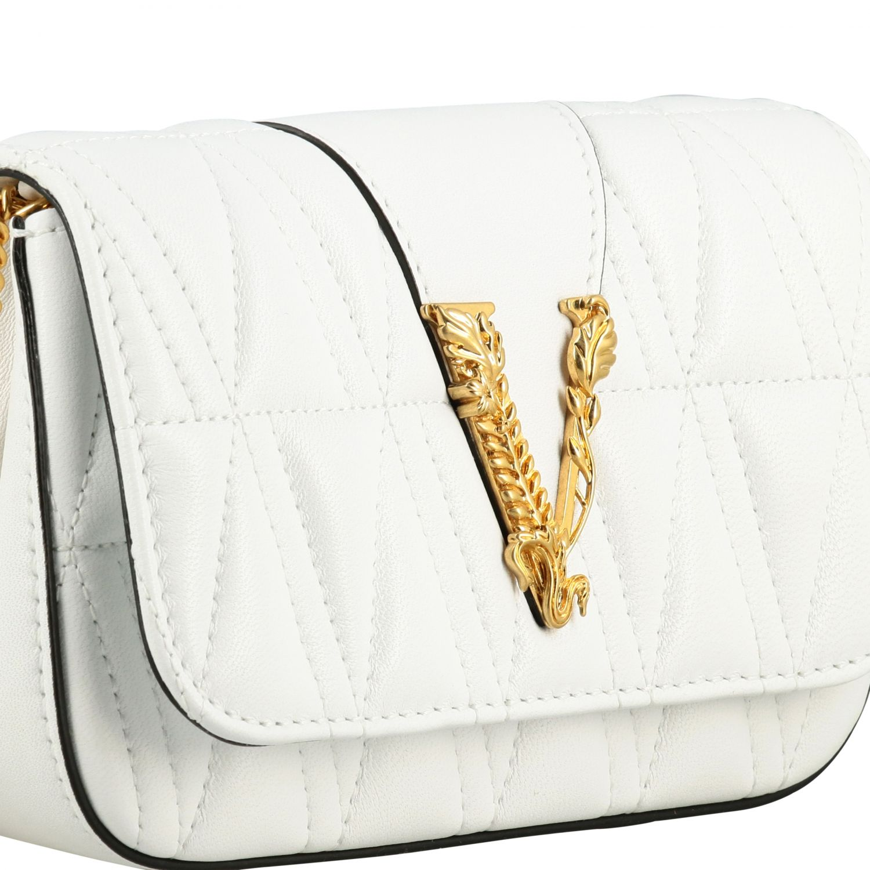 Shoulder bag women Versace white 4