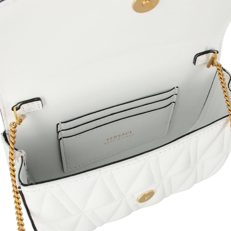 Shoulder bag women Versace white 5