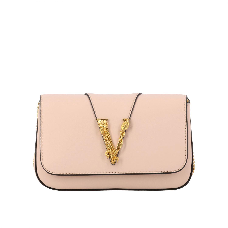 Virtus Versace leather bag with monogram pink 1