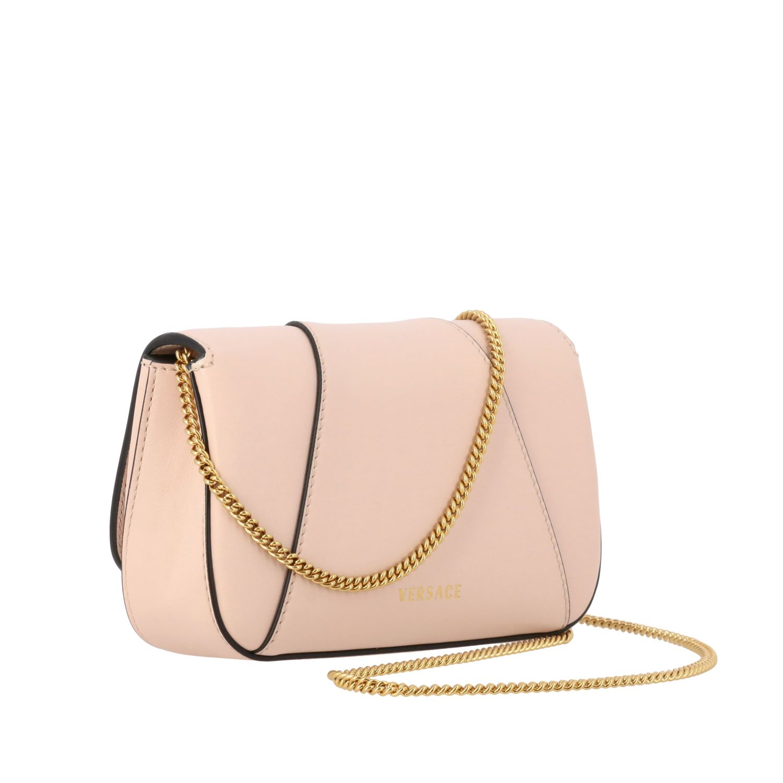 Virtus Versace leather bag with monogram pink 3