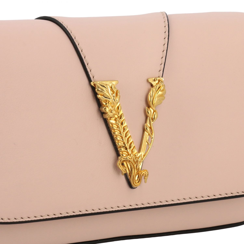 Virtus Versace leather bag with monogram pink 4