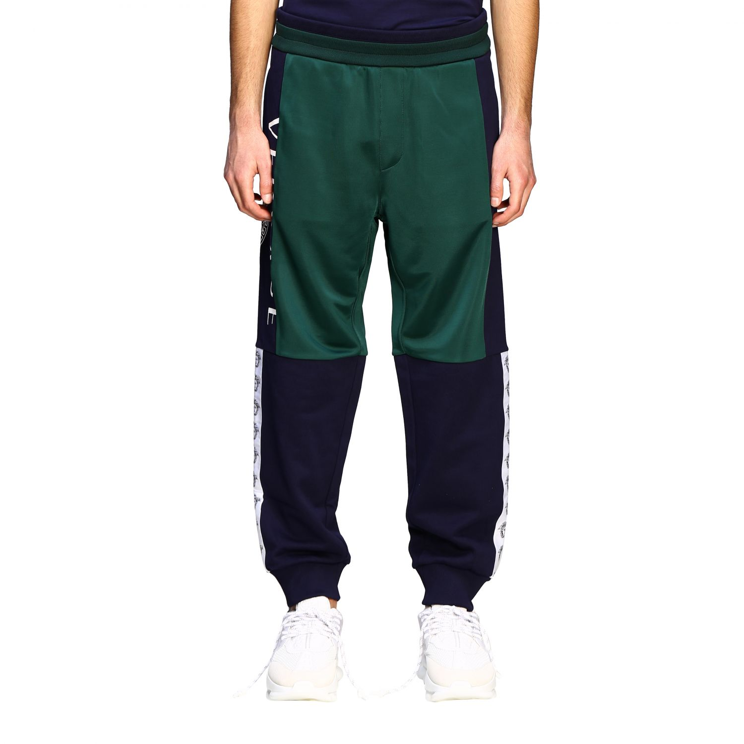 Sweat Versace: Versace two-tone jogging style trousers with logo blue 1
