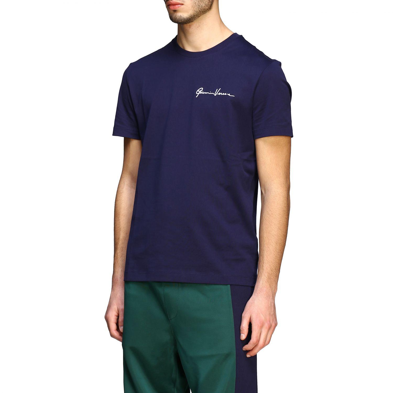T-shirt Versace a maniche corte con firma Gianni Versace blue 4