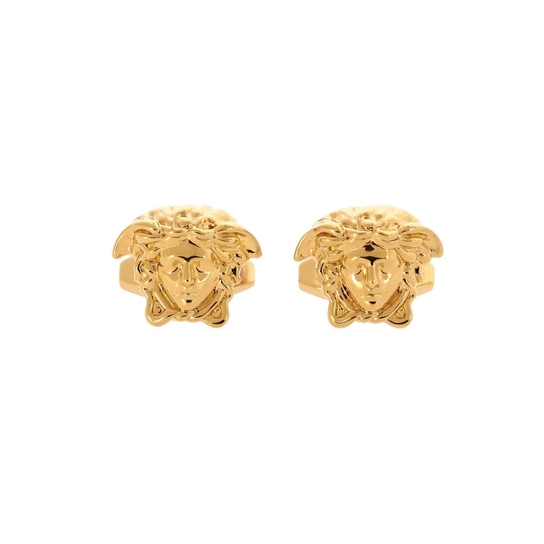 Запонки в форме логотипа Мужское Versace золотой 1